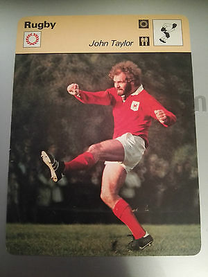 RUGBY UNION - JOHN TAYLOR / WALES / BRITISH LIONS - Sportscaster Photo Card