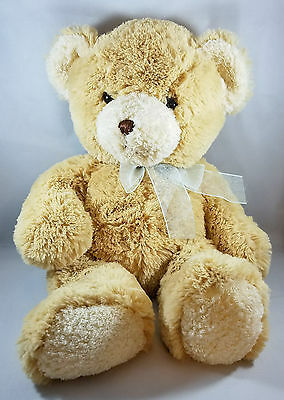 Princess Soft Toys Stuffed Teddy Bear Plush Light Brown Tan Very Soft 15 inch