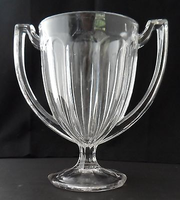 "Heavy Glass Trophy Vase 7"" tall"