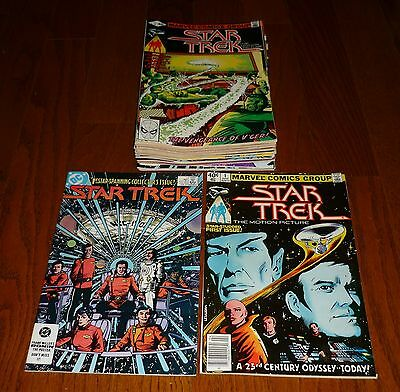 Lot of 22 Star Trek comics # 1-18, 1-4 Marvel and DC Comics, 1980-1984 Spock