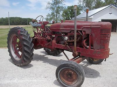 Farmall M Tractor Wide front V8 Motor Dual Pipes electric start Power Steering