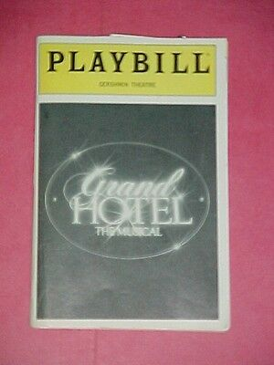 """""""GRAND HOTEL"""" Playbill with Stub 1992 Gershwin Theatre -Tommy Tune, Cyd Charrise"""
