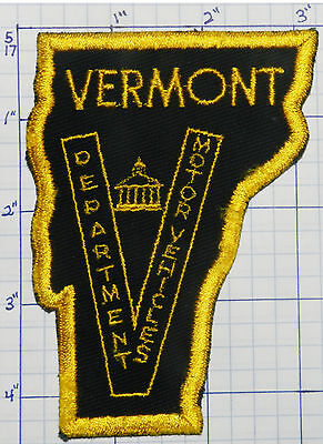 Vermont Department Of Motor Vehicles Police Vintage Patch