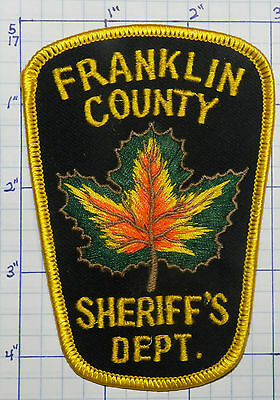 Vermont, Franklin County Sheriff's Dept Maple Leaf Patch