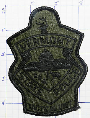 Vermont State Police Subdued Tactical Unit Patch