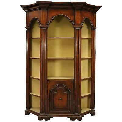 Italian Architectural Mahogany Faceted Bookcase/Display, Mid-20th Century