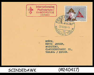 SWITZERLAND - 1963 2nd WHITTEN SCOUT TROOP SPECIAL CARD WITH SPECIAL CANCEL.