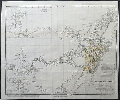 1832 John Arrowsmith Large Antique Map of SE Australia NSW, Sydney, Melbourne