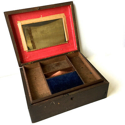 1866 Sewing Box Lucy Parke Bloomington IL Fitted Antique Gift Civil War Era