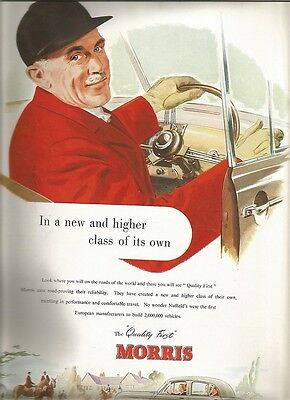 Advertisement for Morris Motors from a copy of 'Holly Leaves' from 1952
