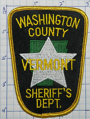 Vermont, Washington County Sheriff's Dept Patch