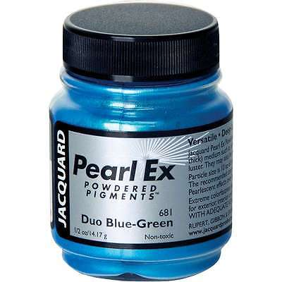 Jacquard Pearl Ex Powdered Pigment 14g Duo Blue-Green 743772031338