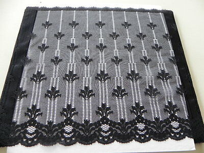 Card of New Very Wide Lace - Black