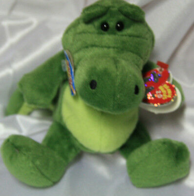 BEANIE BABIES 2.0 TY CHOMPY JULY 1 2008 VINTAGE BEAR crocodile plush toy croc