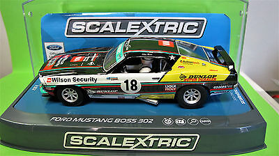 """Scalextric  Ford Mustang  N° 18 """" Boss 302 """"    Ref. C3728"""