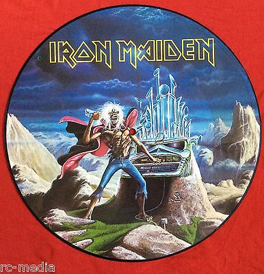 "IRON MAIDEN - Run To The Hills (Live) - Rare UK 12"" Picture Disc (Vinyl Record)"