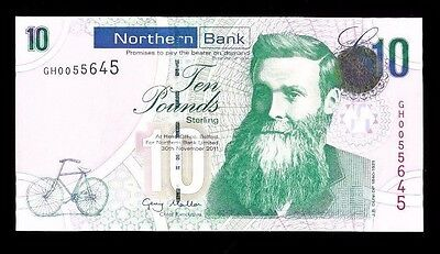 IRELAND - Northern Bank £10.00 2011...Fast Post