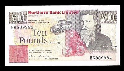 IRELAND - Northern Bank £10.00 1988...Fast Post
