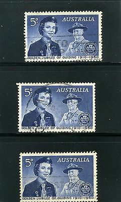 GIRLS SCOUTS OF AUSTRALIA- GOLDEN JUBIREE GUILDING 1960  [3]   used