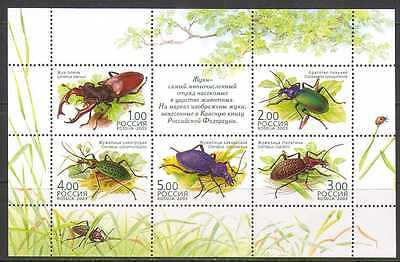 Russia 2003 Beetles/Insects/Nature 5v shtlt (n22288)