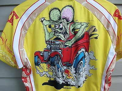 Canari Ed Roth Rat Fink Bike Cycling Jersey Shirt Sedan Delivery Mens Lg/Med/Sm