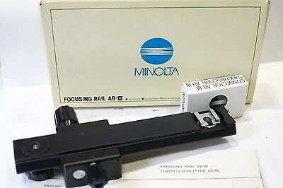 Minolta Focusing Rail AB.III for AutoBellows III, Boxed with flash sync cable
