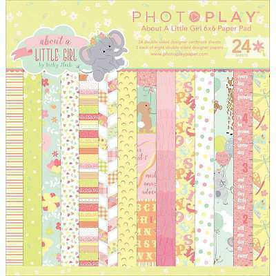 "Photo Play Double-Sided Paper Pad 6""X6"" 24/Pkg About A Little Gir 814948024673"