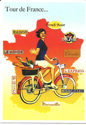 carte postale - VELO - TOUR DE FRANCE - CYCLE