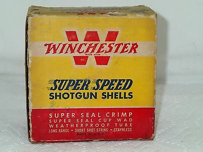 Vintage WINCHESTER Super Speed 12 GA Shotgun Shells Empty Advertising Box