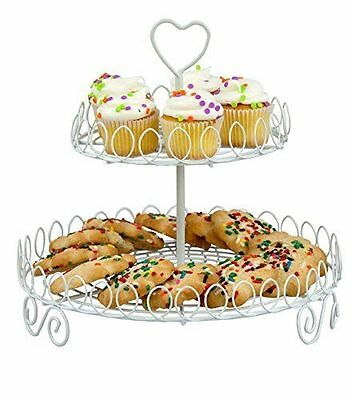 Home Basics 2-Tier Cupcake Stand