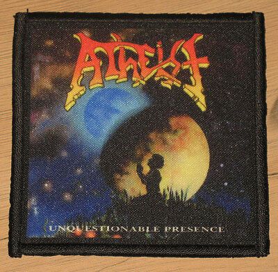 """ATHEIST """"UNQUESTIONABLE PRESENCE"""" silk screen PATCH"""