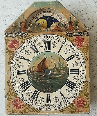 Clock Dial Dutch Vintage Friese Schippertje Wall Clock Moonphase Hand Painted