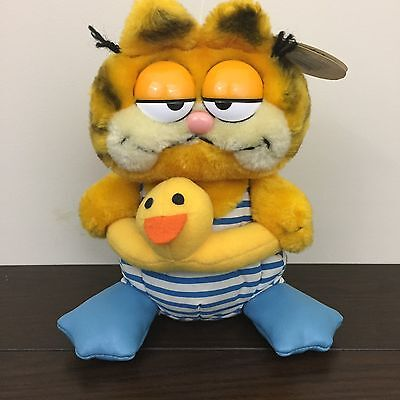 Garfield Swimmer Yellow Ducky Float Plush Stuffed 1978 Vintage Dakin NWT H