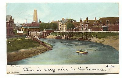 Boston, Lincolnshire - The Ferry - 1904 used postcard