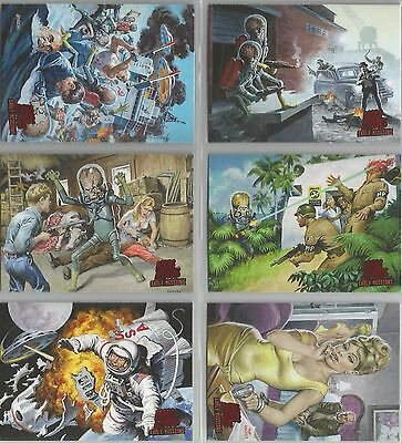 "Mars Attacks Invasion - ""Early Missions"" Set of 6 Chase Cards #1-6"