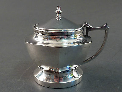 Six Sided Silver Mustard Pot, 1933
