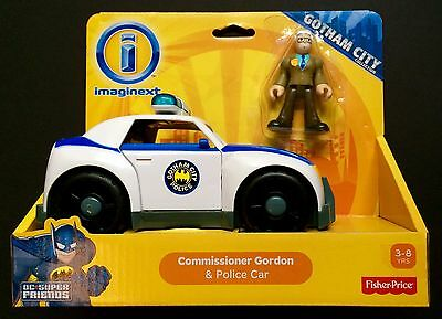 Fisher Price Imaginext DC Gotham City Commissioner Gordon and Police Car New