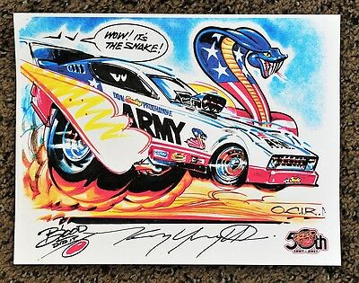 50Th Kenny Youngblood Signed The Snake Don Pruhdomme Funny Car Army Arrow Print