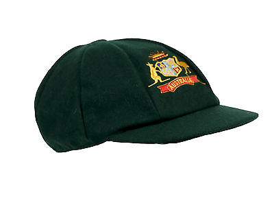 CLASSICAL TRADITIONAL Melton Wool cricket Cap AUSTRALIA  Logo SMALL peak