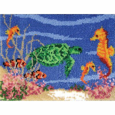 """Under The Sea Latch Hook Kit 20x27"""" By MCG Textiles No Tool Included."""