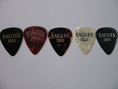 Eagles Set Of 5 Henley,schmit,walsh,smith ,frey 2011 Real Tour Guitar Pick(S)