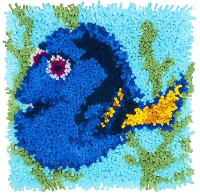 """Disney Finding Dory Latch Hook Kit 12x12"""" By Caron Wonderart. No Tool Included."""