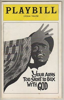"""Playbill  """"Your Arms Too Short To Box With God"""" 1977"""