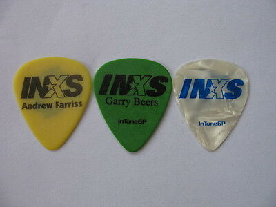 Inxs Set Of 3 A Farris,t Farris,g Beers Real Tour Guitar Pick(S)