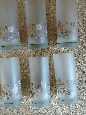 Marks & Spencer autumn leaves 6 tall frosted glasses