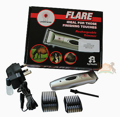 Trimmers Clippers Clipper Flare Liveryman Horse Dog Battery Cordless