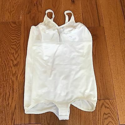 Vintage Sears Shiny White Wire-Free BODY SHAPER 44D