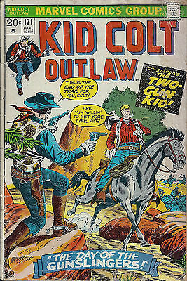 KID COLT OUTLAW #171  Jun 1973  A:Two Gun Kid