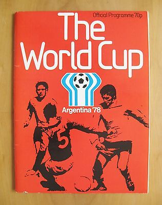 1978 World Cup - Official Programme / Brochure English Edition *Exc Condition*