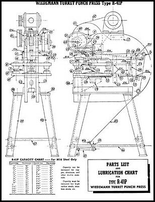 Wiedemann R-41P Turret Punch Press Ops & Parts Manual